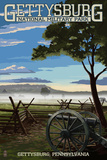 Gettysburg, Pennsylvania - Military Park Print by  Lantern Press