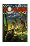 Coral Gables, Florida - Zombie Apocalypse Print