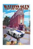 Watkins Glen State Park, New York - Vintage Grand Prix Art by  Lantern Press