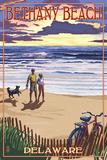 Bethany Beach, Delaware - Beach and Sunset Affiche par  Lantern Press