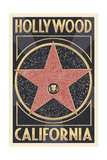 Hollywood, California - Star Prints by  Lantern Press