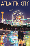 Atlantic City - Steel Pier at Night Prints by  Lantern Press
