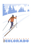 Breckenridge, Colorado - Cross Country Skier Posters by  Lantern Press
