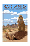 Badlands National Park, South Dakota - Prairie Dogs Prints by  Lantern Press