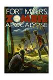 Fort Myers, Florida - Zombie Apocalypse Prints
