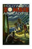 Hollywood, California - Zombie Apocalypse Art