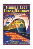 Key West, Florida - East Coast Railway Print