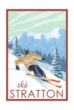 Stratton, Vermont - Downhill Skier Scene Art