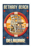 Bethany Beach, Delaware - Lifeguard Chair Prints by  Lantern Press