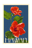 Hawaii - Red Hibiscus Flower Posters