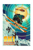 Breckenridge, Colorado - Heli-Skiing Prints by  Lantern Press