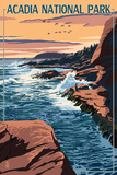 Acadia National Park, Maine - Mount Desert Island Kunstdrucke von  Lantern Press