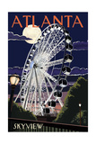 Atlanta, Georgia - Skyview Wheel Poster by  Lantern Press
