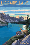 Banff, Alberta, Canada - Moraine Lake Poster by  Lantern Press
