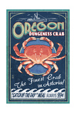 Astoria, Oregon - Dungeness Crab Vintage Sign Posters by  Lantern Press