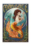 Margate, New Jersey - Mermaid Posters
