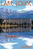 Banff, Canada - Lake Louise Plakater af  Lantern Press