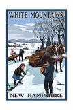 White Mountains, New Hampshire - Firewood Gathering Prints by  Lantern Press
