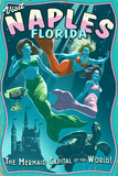Naples, Florida - Live Mermaids Prints by  Lantern Press