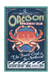 Oregon - Dungeness Crab Vintage Sign Posters by  Lantern Press