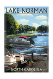Lake Norman, North Carolina - Pontoon Boats Posters by  Lantern Press