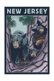New Jersey - Black Bears in Tree Posters by  Lantern Press
