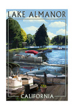 Lake Almanor, California - Pontoon Boats Posters by  Lantern Press