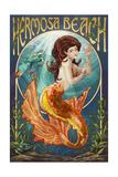Hermosa Beach, California - Mermaid Poster by  Lantern Press
