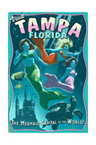 Tampa, Florida - Live Mermaids Posters by  Lantern Press