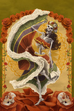 Day of the Dead - Skeleton Dancing Prints by  Lantern Press