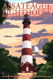 Assateague, Virginia - Lighthouse Prints by  Lantern Press