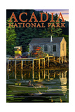 Acadia National Park, Maine - Lobster Shack Poster by  Lantern Press