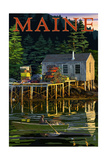 Maine - Lobster Shack Giclée-Premiumdruck von  Lantern Press