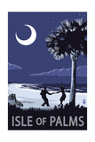 Isle of Palms, South Carolina - Dancers on Beach Poster by  Lantern Press