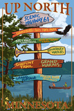 Gooseberry Falls, Minnesota - Destination Signpost Posters by  Lantern Press