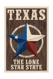 Texas - Barn Star Posters by  Lantern Press