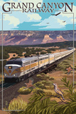 Grand Canyon Railway, Arizona - Meadow Art by  Lantern Press