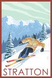 Stratton, Vermont - Downhill Skier Scene Posters