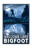 Wallowa Lake, Oregon - Bigfoot Prints