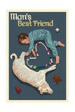Man's Best Friend Poster by  Lantern Press