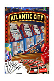 Atlantic City - Casino Scene Print by  Lantern Press