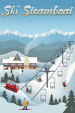 Steamboat, Colorado - Retro Ski Resort Art by  Lantern Press
