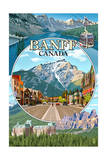 Banff, Canada - Montage Prints by  Lantern Press