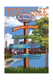Nashville, Tennessee - Sign Destinations Poster by  Lantern Press