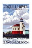 Bandon, Oregon - Coquille River Lighthouse Prints by  Lantern Press