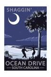 Ocean Drive, South Carolina - Palmetto Moon - Shaggin' Posters by  Lantern Press