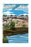 Montezuma Castle, Arizona - - Montezuma Well Posters by  Lantern Press