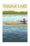Squam Lake, New Hampshire - Kayak Scene Prints by  Lantern Press