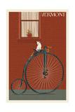 Vermont - Bicycle Prints by  Lantern Press