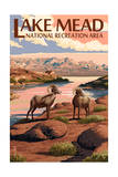 Lake Mead - National Recreation Area - Bighorn Sheep Prints by  Lantern Press